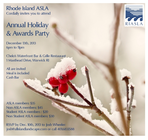 2013 RIASLA Holiday Party Invite