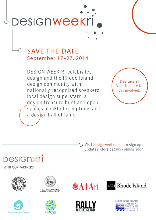 DESIGN WEEK RI Save the Date