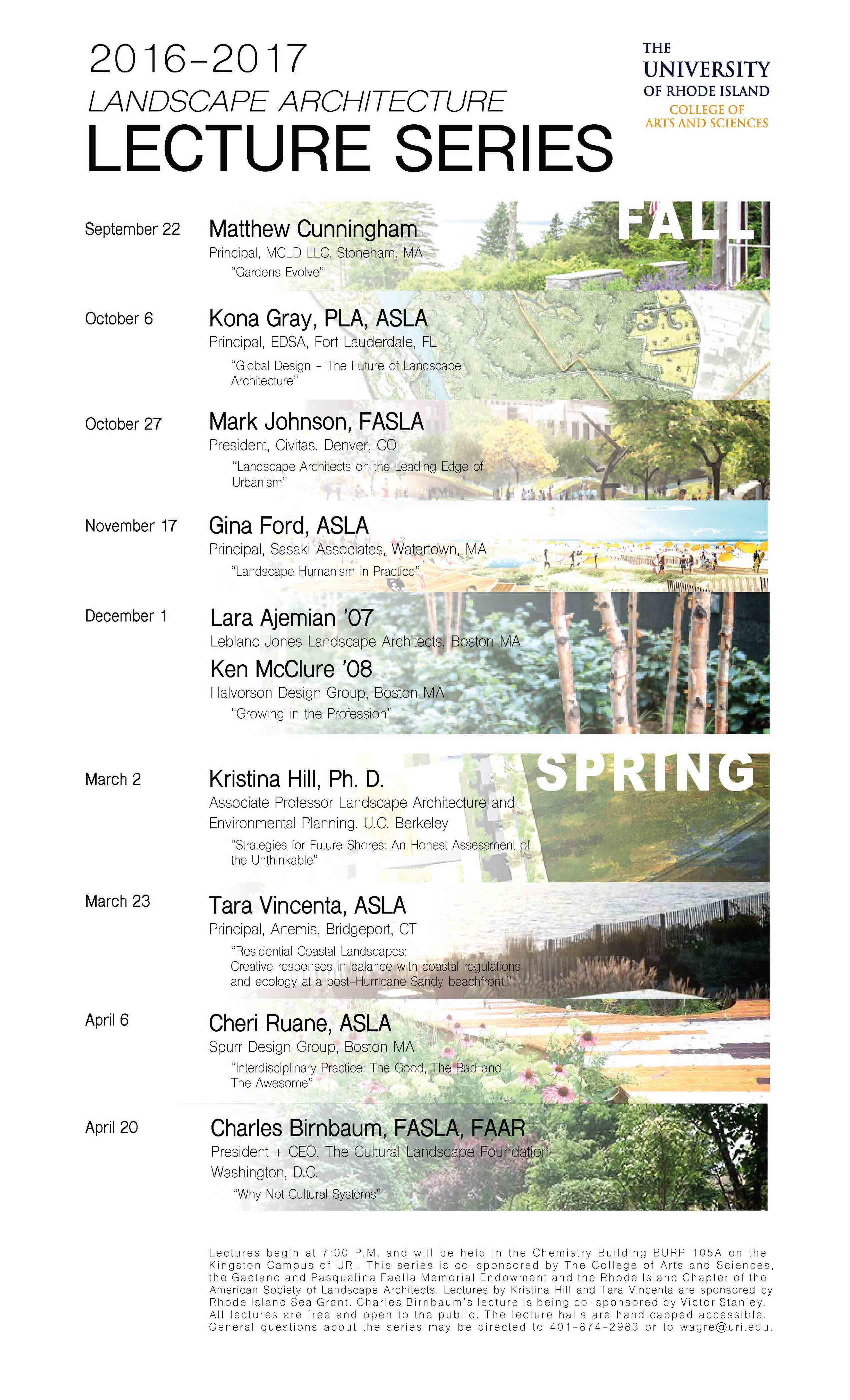 URI Landscape Architecture Lectures 2016 2017 | Rhode Island Chapter Of The  American Society Of Landscape Architects