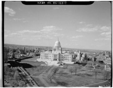 State House black and white image